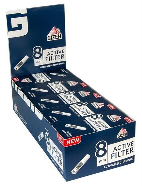 GIZEH Black Active Filter Slim 8mm 10er
