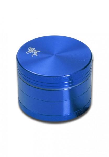 Black Leaf' Alu-Mühle 4-tlg. m. Magnet blau
