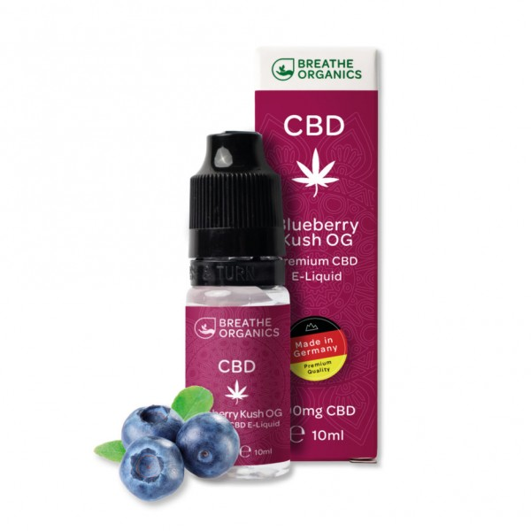 Breathe Organics 1% CBD E-Liquid Blueberry Kush 10ml 100mg