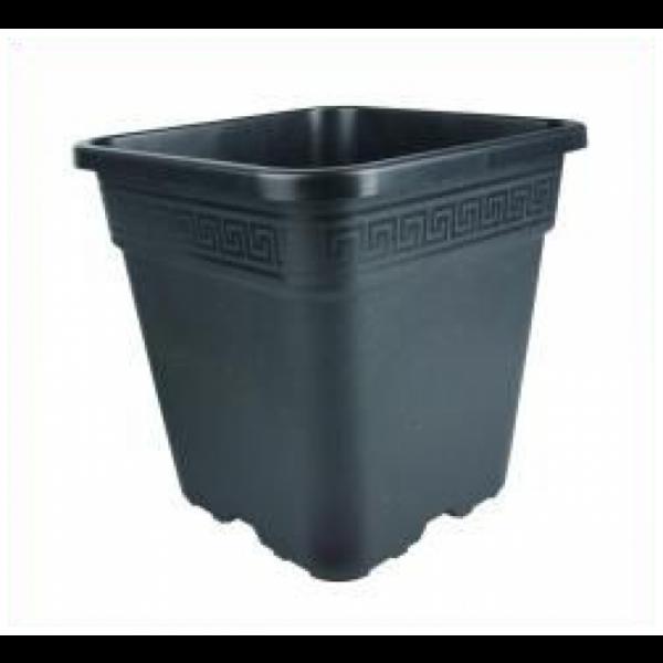 Topf, viereckig, schwarz,18 L