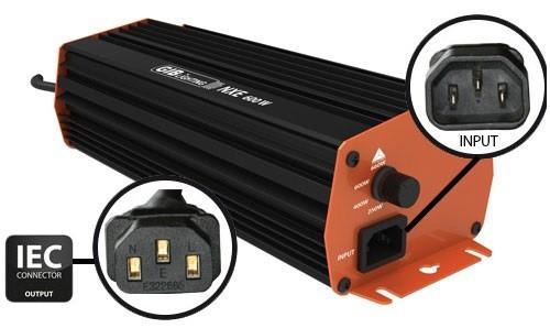 Vorschaltgerät GIB Lighting NXE 600 W, 4-Stufen, IEC-Connector