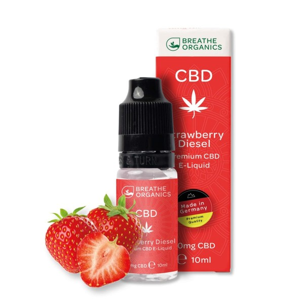 Breathe Organics 6% CBD E-Liquid Strawberry Diesel 10ml 600mg