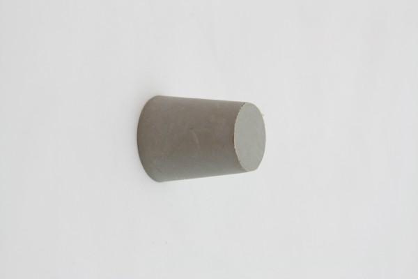 Gummistopfen grau groß